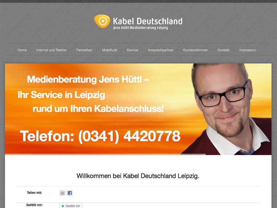 Neue Internetpräsenz der Kabel Deutschland Medienberatung Hüttl Leipzig