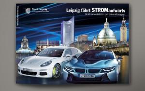 Titel Imagebroschüre Elektromobilität in Leipzig