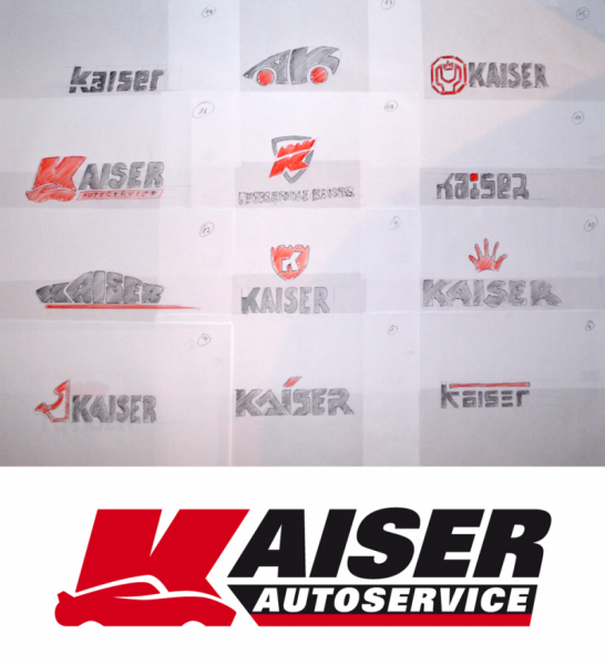 Entwürfe Logo Autoservice Kaiser Reichelt