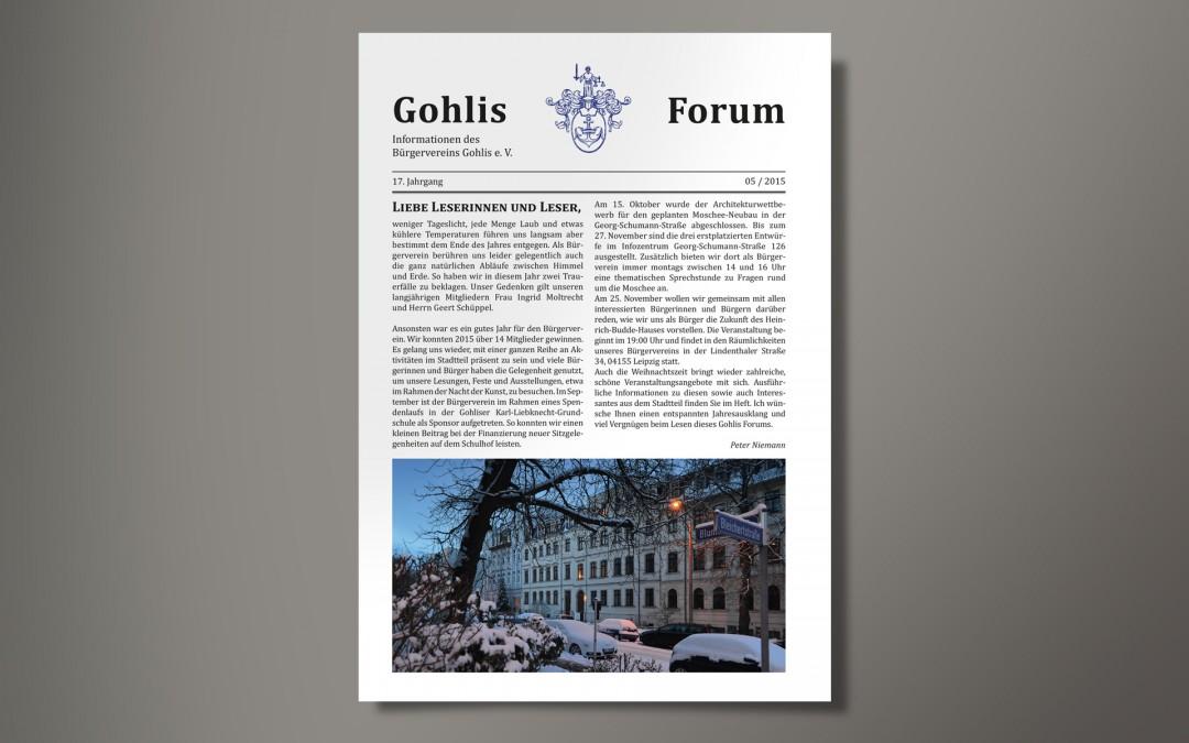 Gohlis Forum: Layout der Leipziger Stadtteilzeitschrift