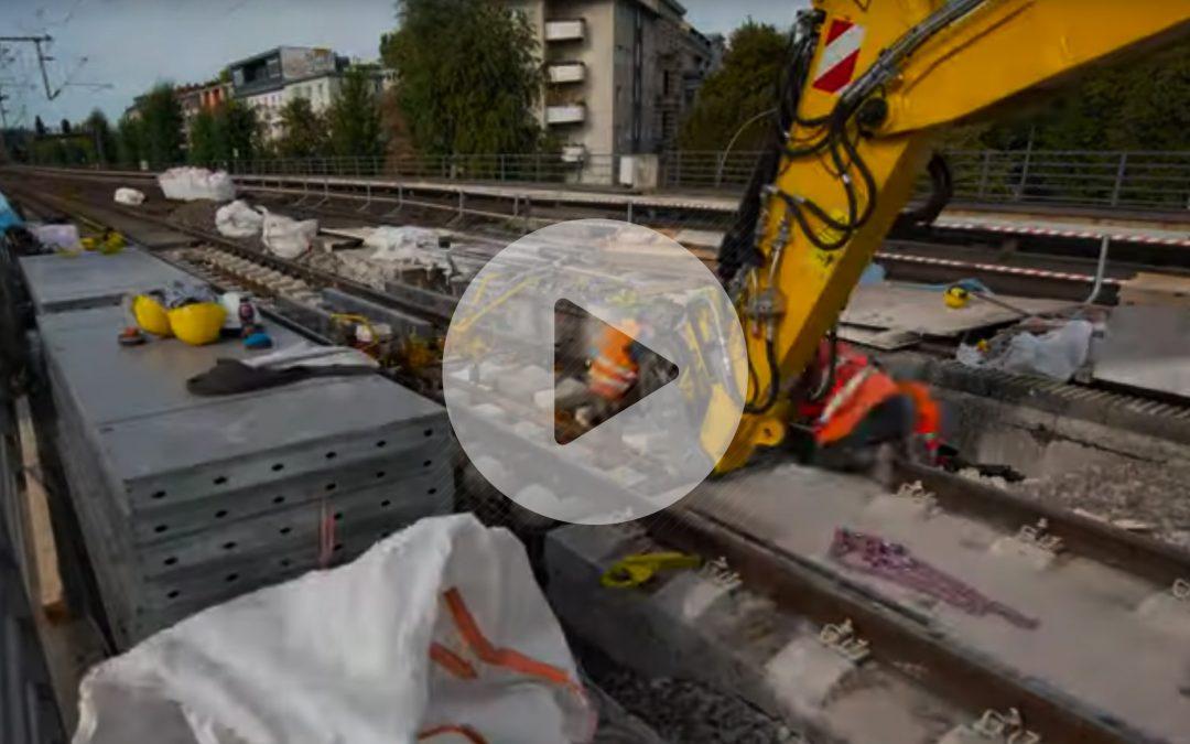 Baustellenreport im Zeitraffer auf dem Berliner Hauptbahnhof